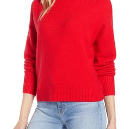 Women's Halogen Drop Shoulder Sweater, Size X-Small - Red | Nordstrom