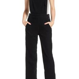 Women's Ag Gwendolyn Corduroy Overalls, Size X-Small - Black | Nordstrom