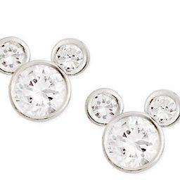 Disney Sterling Silver Diamonique Mickey Stud Earrings | QVC