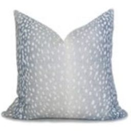 Antelope Linen Pillow Cover  Spa Blue  Fawn Pillow  Deer Pillow  Animal Pillow  Light Blue Pillow  Designer Pillow  Decorative Pillow | Etsy (US)