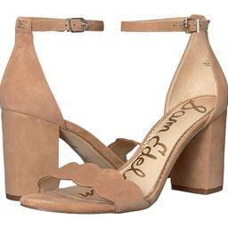 Sam Edelman - Odila Ankle Strap Sandal Heel (Golden Caramel Kid Suede Leather) Women's Shoes | Zappos