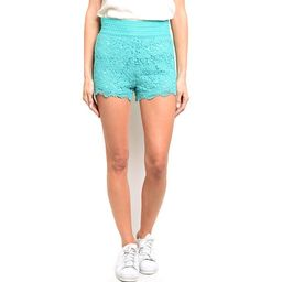 Shop the Trends Women's Fully Lined Mini Crochet Lace Shorts | Overstock