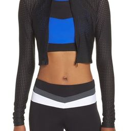 Women's Boom Boom Athletica Perforated Crop Jacket | Nordstrom