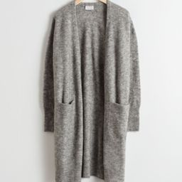 Long Wool Blend Cardigan - Grey | & Other Stories