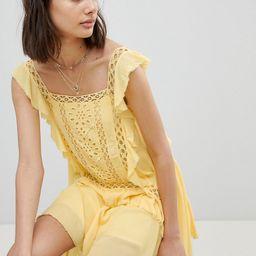 Free People Cut Work Mini Dress - Yellow   ASOS UK