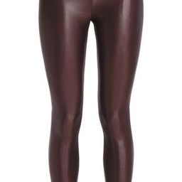 Koral Woman Lustrous Cropped Stretch Leggings Merlot Size XS | The Outnet US