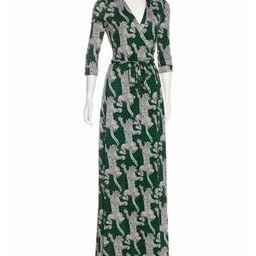 Diane von Furstenberg Abigail Silk Wrap Dress leopard | The RealReal