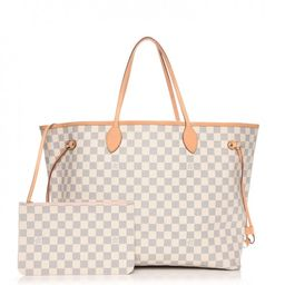 Louis Vuitton Tote Neverfull Neo (With Pouch) Damier Azur GM Rose Ballerine   StockX