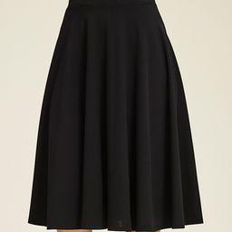 Black A-Line Skirt - Women | zulily