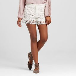 Women's Lace Shorts White 29 - S&p by Standards and Practices | Target