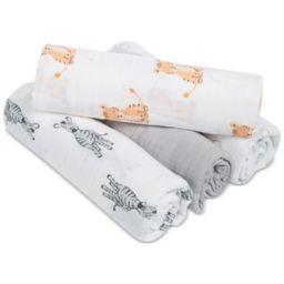 aden by aden + anais 4-Pk. Animal-Print Cotton Swaddle Blankets, Baby Boys & Girls | Macys (US)