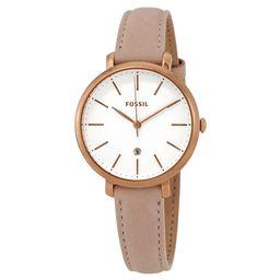 Fossil Jacqueline White Dial Pastel Pink Leather Ladies Watch ES4369   Jomashop.com & JomaDeals.com