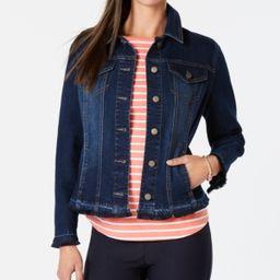 Charter Club Frayed-Trim Jean Jacket, Created for Macy's | Macys (US)