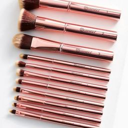 bh cosmetics 11 Piece Makeup Brush Set - Metallic One Size at Urban Outfitters | Urban Outfitters US