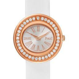 Piaget - Possession 29mm 18-karat Rose Gold, Satin And Diamond Watch | Net-a-Porter (US)