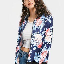 Floral Zip Up Bomber Jacket | ZAFUL (Global)