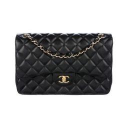 Chanel Classic Jumbo Double Flap Bag Black Chanel Classic Jumbo Double Flap Bag | The RealReal