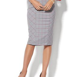 7th Avenue - Ruffle-Back Skirt - Signature - Campfire Red - Tall   New York & Company