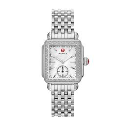 Michele Deco Mid Diamond Watch Mww06v000001 Mother-Of-Pearl | Michele Watches