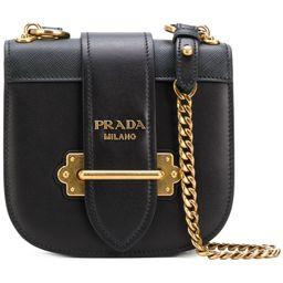 Prada Cahier cross-body bag - Black | FarFetch US