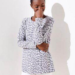 LOFT Leopard Print Sweatshirt | LOFT
