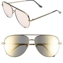 Women's Quay Australia X Desi Perkins High Key 60Mm Aviator Sunglasses - | Nordstrom