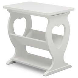 Delta Children Canton End Table/Side Table for the Nursery, Bianca White | Walmart (US)