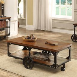 Coaster Furniture Coffee Table with Casters   Hayneedle