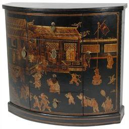 Oriental Furniture Village Market Accent Chest in Black | Cymax Stores