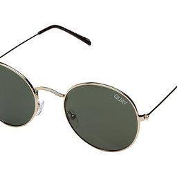 QUAY AUSTRALIA Mod Star (Gold/Green) Metal Frame Fashion Sunglasses | Zappos