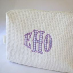 Applique Cosmetic Case - Waffle Weave   Etsy (US)