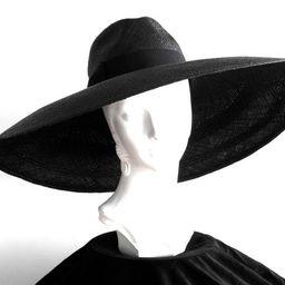 Floppy Wide Brim Panama Fedora Hat- Womens Sun Hat- Straw Hat- Wide Brim Straw Hat- Panama Hat- Blac   Etsy (US)