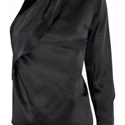 W118 By Walter Baker Woman Twisted One-shoulder Stain Top Black Size L   The Outnet US