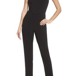Women's Ali & Jay Asymmetrical Pleat Jumpsuit, Size X-Small - Black | Nordstrom
