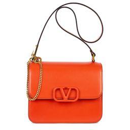 Valentino Garavani VSling Medium Orange Leather Cross- Body Bag | Harvey Nichols (Global)