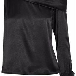 W118 By Walter Baker Woman One-shoulder Draped Satin Top Black Size M   The Outnet US