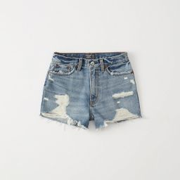 High Rise Rigid Denim Shorts | Abercrombie & Fitch US & UK