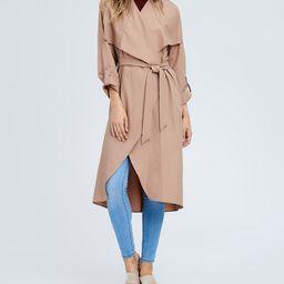 Khaki Hi-Low Trench Coat - Women | zulily