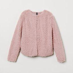 H & M - Faux Fur Jacket - Pink   H&M (US)