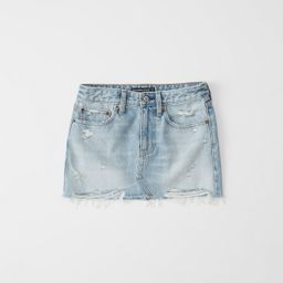Denim Micro Mini Skirt   Abercrombie & Fitch US & UK
