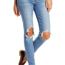 Women's Levi's 721 Ripped High Waist Skinny Jeans, Size 24 - Blue   Nordstrom