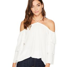 1.STATE - Cold Shoulder Tiered Sleeve Blouse (New Ivory) Women's Blouse   6pm