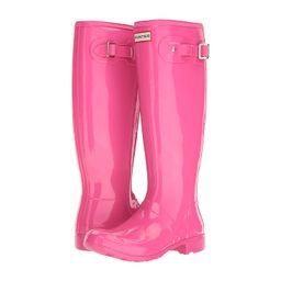 Hunter - Original Tour Gloss Packable Rain Boot (Ion Pink) Women's Rain Boots | Zappos