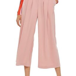 Women's Topshop Ivy Crop Wide Leg Trousers, Size 12 US (fits like 14) - Pink | Nordstrom