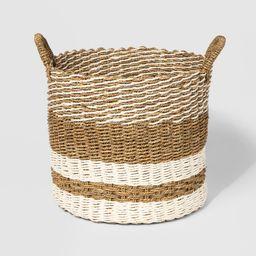 "15"""" x 13"""" Woven Seagrass Basket Natural/Cream - Threshold   Target"