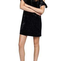 Women's Sanctuary Night Slayer Cold Shoulder Velvet Dress   Nordstrom