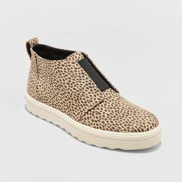 Women's Lilian Microsuede Leopard Print Slip On Sneakers - Universal Thread Brown 9 | Target