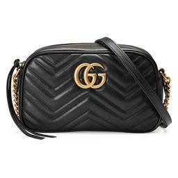 GG Marmont small matelassé shoulder bag black | Gucci (US)