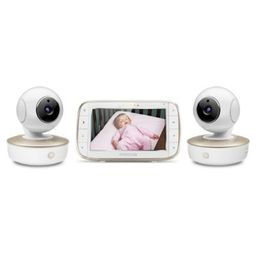 """Motorola® MBP50-G2 Portable 5"""" Video Baby Monitor with 2 Cameras   buybuy BABY"""