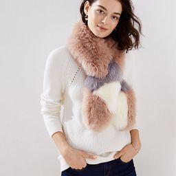 LOFT Colorblock Faux Fur Scarf | LOFT